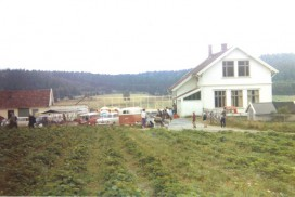 Agnalt skole under bygging i 1967: Foto Magnhild Granheim
