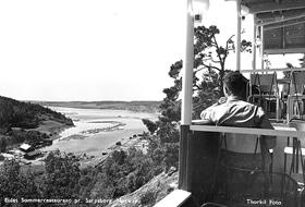 Utsikten fra Eidet Kro i 1960
