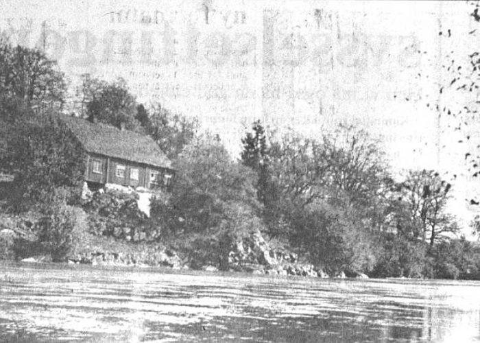 Ferjestan i Solli bygd i 1825. Foto ca 1933.