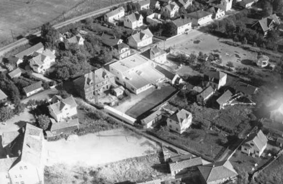 Greåker sentrum fly_1954_ØstfoldFylkesBilledarkiv