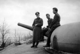 Tyske soldater på Greåker fort under krigen