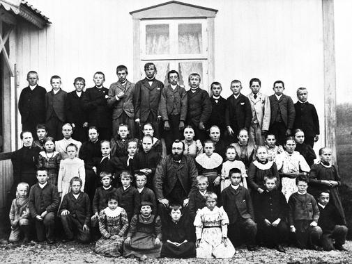 Jelsnes skole, klassebilde 1895