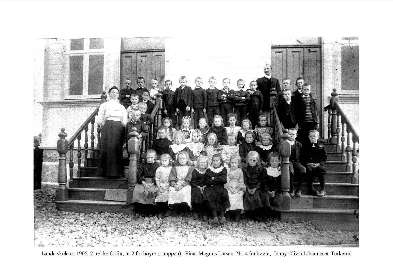 Lande skole 1905.