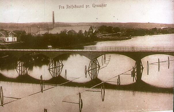 Rolvsøysund bru i 1910