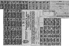 Rasjoneringskort fra andre verdenskrig