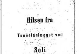 Utsnitt av hefet med skillingsvisa om tømmertunnelen