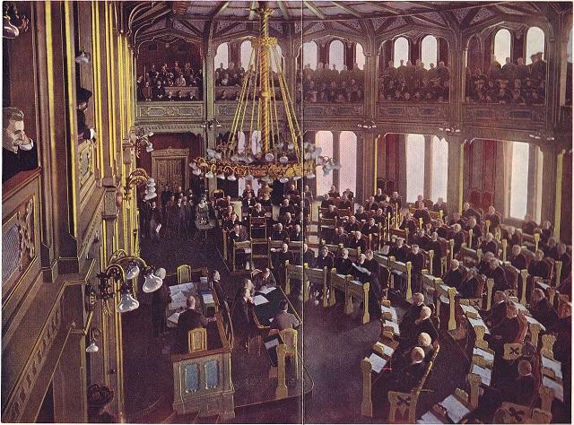 etusjert foto fra opplesingen av selvstendighetserklæringen 7. juni 1905.
