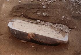 Karet som kom til syne under utgravningene