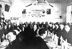 Lysfest på Agnalt skole i 1951
