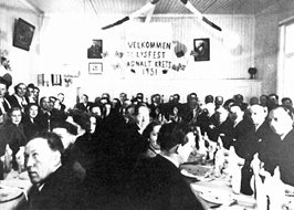 Lysfesten på Agnalt skole i 1951