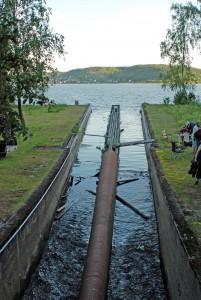 Utløpet ut i Visterflo