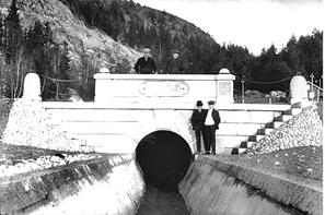 Tømmertunnelen ved Eidet