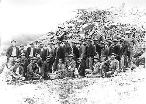 Arbeidsstokken ved Forsberg stenhoggeri 1934