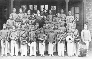 Greåker skoles musikkorps i 1934