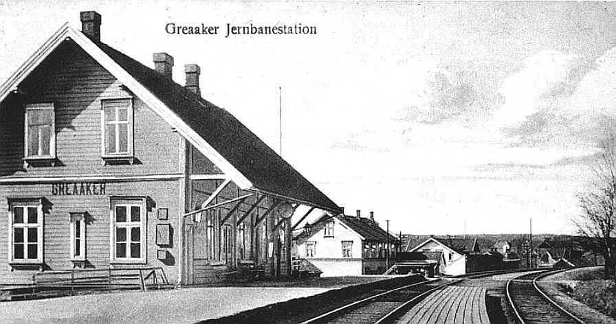 Greaaker Jernbanestation i 1910. Kilde: Norsk Jernbanemuseum