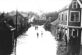 Oversvømmelse på Greåker i 1931
