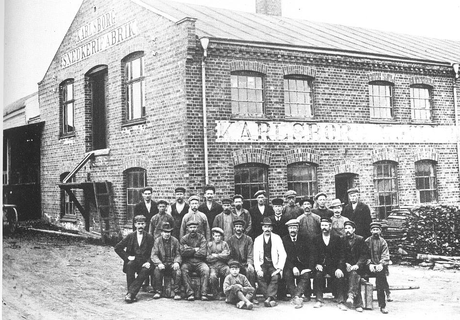 Arbeidere ved Karlsborg i 1914