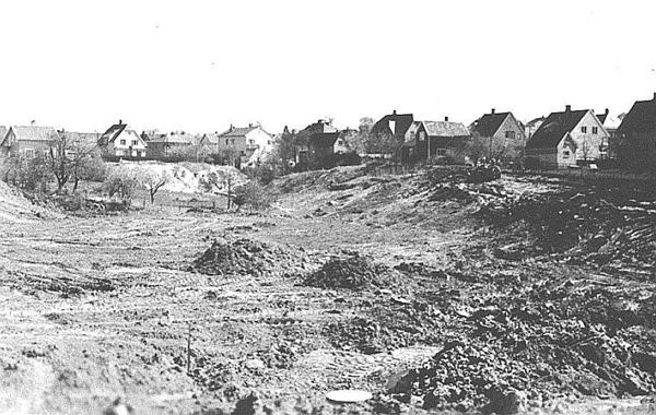 Oppfylling av Torsbekken i 1950