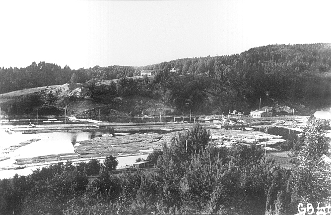 Tømmerlensa i Eidet i 1910