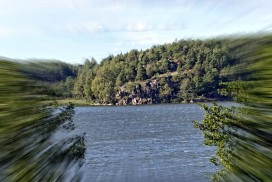 Stenerødodden hvor Tunborg bygdeborg en gang hadde kontroll over Tunevannet
