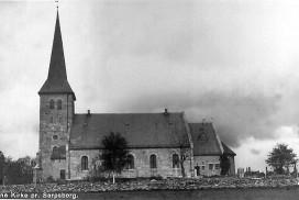 Tune kirke etter innvielsen i 1910